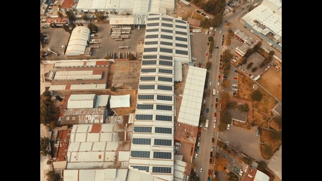 Aerial view of a SkySense solar panel project in Mexico