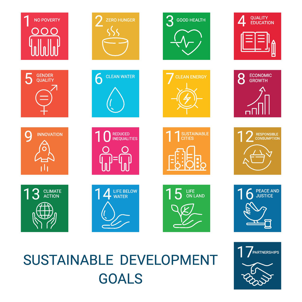 A list of all 17 sustainable development goals.