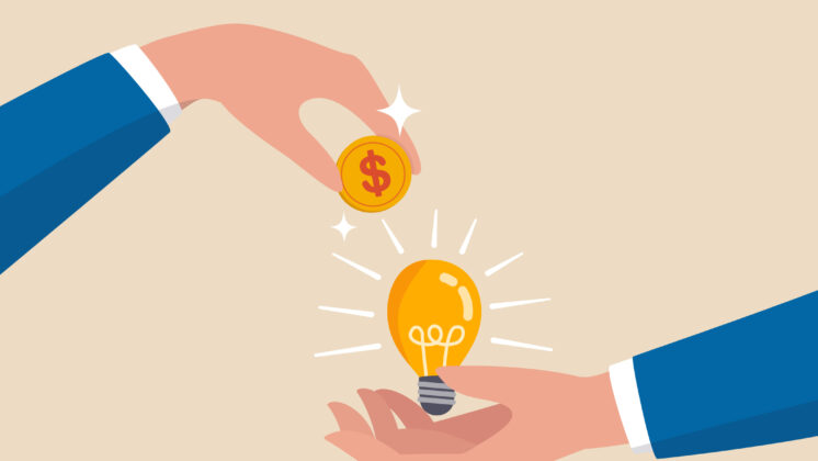 Fundraising involves proving your idea's worth to investors.