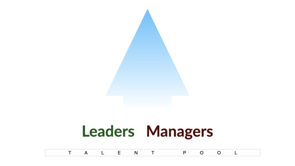 Traditional talent development had a single upward path for both leaders and managers